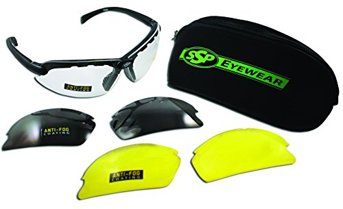 SSP Eyewear Shatterproof Safety Glasses Kit with Assorted Color Anti-Fog Lenses, CHELAN AST KIT