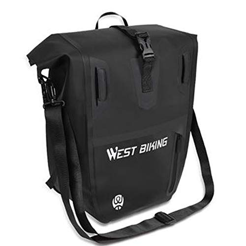 wendaby Bike Pannier Rack 25L Bicycle Luggage Bag Bicycle Shelf Bag Waterproof Reflective Backpack