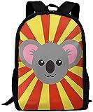 Mochila de Viaje para Adultos con imágenes prediseñadas de Koala de Dibujos Animados Lsjuee, Mochila Escolar, Mochila Informal Oxford, Bolso para Ordenador portátil al Aire Libre, Bolsos de Hombro p