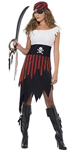 Piraten-Schätzchen Kostüm mit Kleid und Kopfbedeckung, Small