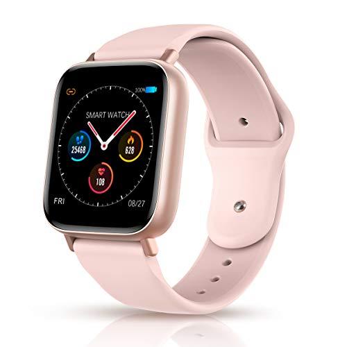 Reloj Inteligente para Mujer/Hombre, Bluetooth Smart Watch Fitness Tracker con Ritmo Cardíaco Sleep Tracking Contador de Calorías Escalonadas Recordatorio Inteligente para Android iOS