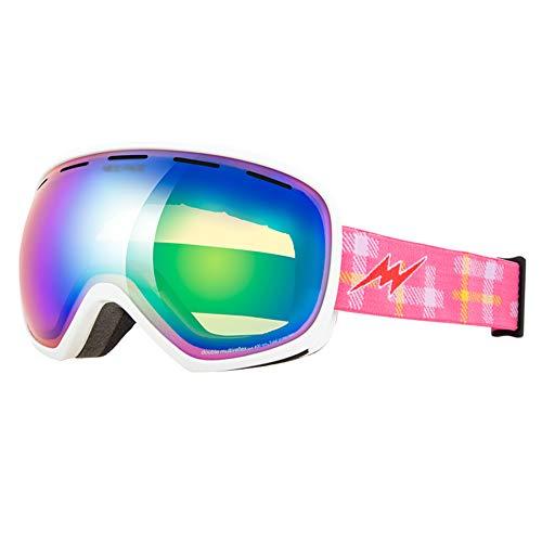 RKY Lunettes de ski Lunettes de ski - Space PC, peuvent porter dans la myopie des lunettes, des lunettes de ski sphériques universelles adultes grand format, anti-buée, pour adultes (16 couleurs dispo