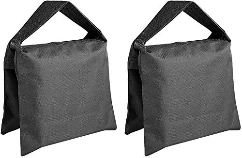 Sacos de Arena para Fotografía 2X Bolsa de Arena de Equilibrio Ajustable para Estabilización del Equipo de Iluminación Pie de Estudio, Softbox, etc.