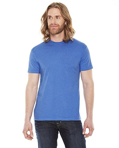 American Apparel Unisex Poly/coton à manches courtes - Heather Lake Blue - 2XL