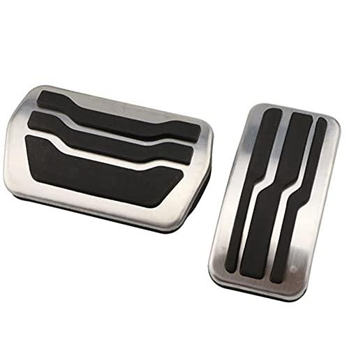 La aleación de aluminio del pedal del pie, mecánicos freno de embrague Coches freno Acelerador de embrague con pedal del acelerador Rest cubierta del cojín para Ford Focus 2 3 4 2005-2020