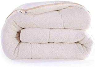 BFZJ Quilt Winter Thicken Lambskin Quilts Double Single Winter Adult Core Cotton Warm Wool Quilt (Color : White, Size : 220X240cm/4kg)