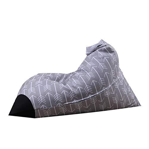 jidan Durable Komfortable Sitzsack Plüschtier Aufbewahrungstasche Home Storage Hocker Diamant-Gurt Griff Tasche Gestreifte Bean Stuhl Startseite Kleideraufbewahrung (Color : Grey)