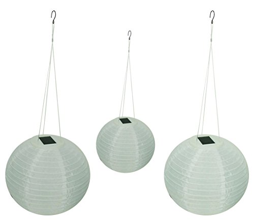 "Solar Wholesale Shoji Solar Lanterns, 12"" Diameter (3 Pack)"