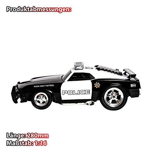HSP Himoto 2.4GHz RC ferngesteuertes Polizeiauto U.S Design mit Sound-, Vorder- und Rücklicht, Blaulicht, Fahrzeug Komplett-Set, Inkl. Fernsteuerung, Akku und Ladekabel