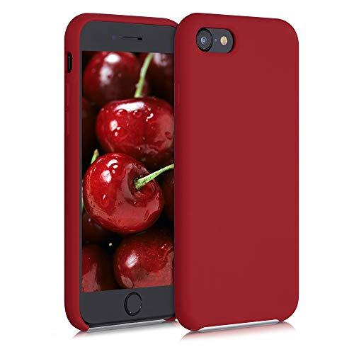 kwmobile Cover Compatibile con Apple iPhone 7/8 / SE (2020) - Custodia in Silicone TPU - Back Case Protezione Cellulare Rosso Acceso