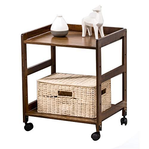 Niveles 2 estantes enrollables, Universal de la Rueda de Almacenamiento Carro de Cocina, Balcón extraíble Rack, Rack de Almacenamiento de bambú Cabecera (Size : 35cm)