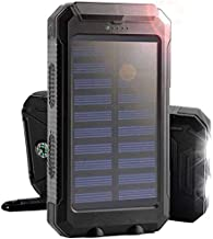 FidgetFidget Waterproof Charger Solar Outdoors Dual USB Solar Battery Power Bank 300000mAh Black