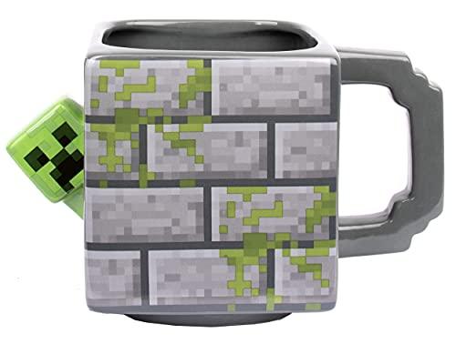 Minecraft - Minecraft Becher - Keramik-Becher - 650 ml Kapazität - Creeper Becher - Neuheit Becher - Kaffeebecher - Minecraft Merchandise - 3D Minecraft Spiel - Gaming Merchandise