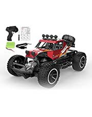 RC Cars Remote Control Cars Off Road Monster Trucks for Kids, 1:20 Scale Metal Shell Alloy RC Car High Speed Racing Car 2.4Ghz Hobby Vehicles Toys Gifts with Rechargeable Batteries (Red)