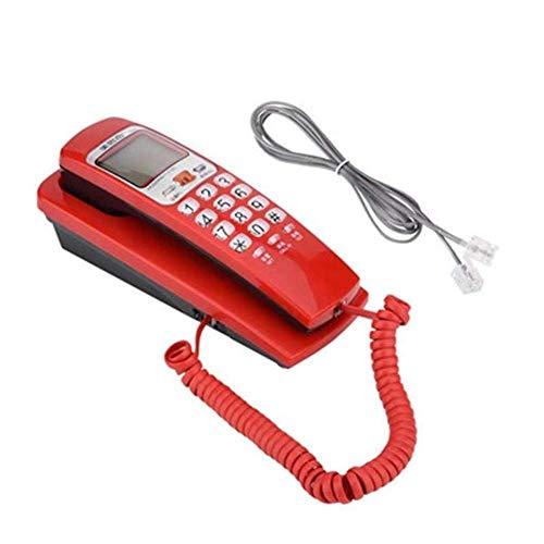 Teléfono Teléfonos con cable de botón grande Teléfono de pared Teléfono fijo con cancelación de ruido Teléfono de moda para el hogar Cocina Hotel Oficina Teléfono con cable Identificador de llamadas