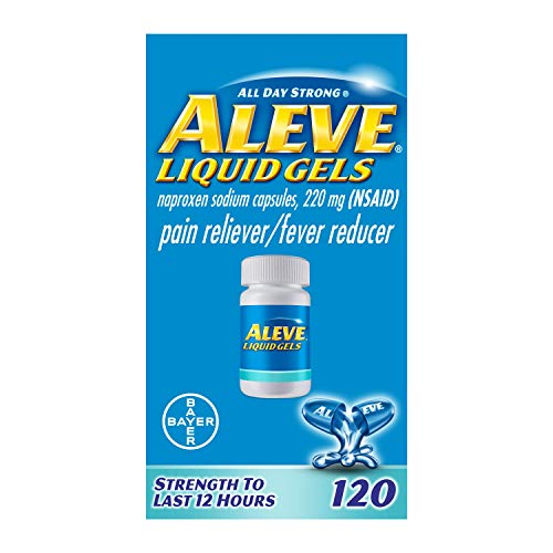 Aleve Liquid Capsules, Naproxen Sodium Capsules 220 mg (NSAID), Pain Reliever/Fever Reducer, Fast...