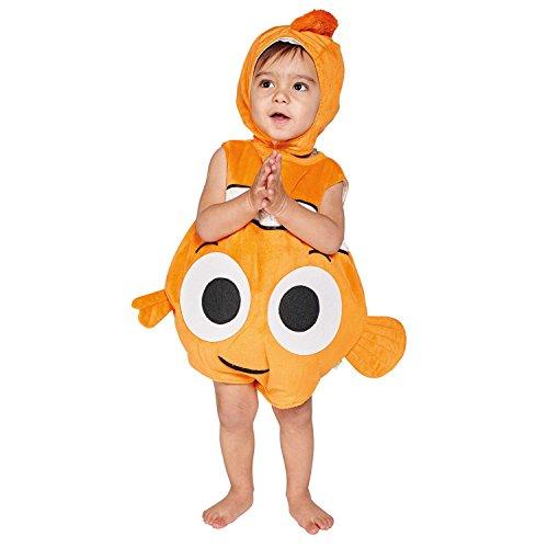 amscan DCNE-TA03 Disney Pixar Findet Kinderkostüm Nemo Plüschüberwurf mit Mütze,...