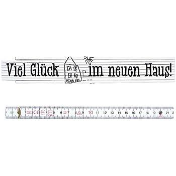Zollstock Bauherr ADGA Meterstab 2m Geschenk Hausbau Richtfest Haus