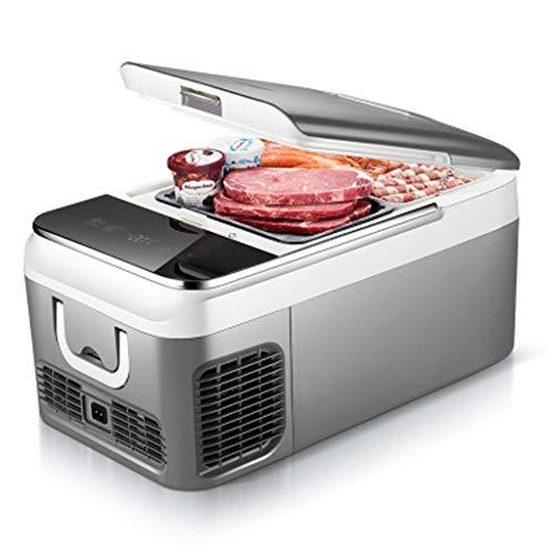 Fridge- ZGM Auto Mini-Kühlschrank 18L Kompressor Kühl-Gefrier-Box -20 ° C intelligente Digitalanzeige Temperaturregelung Auto/zu Hause Dual-Use für Reisen oder Camping