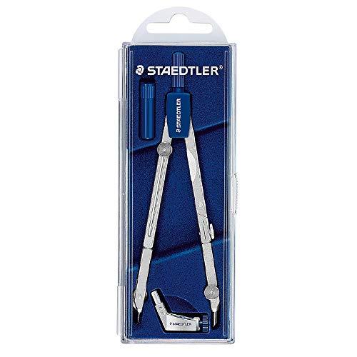 Staedtler Mars Basic 554 T01 554 - Set de dibujo con compás y alargador con caja (tapa abatible)