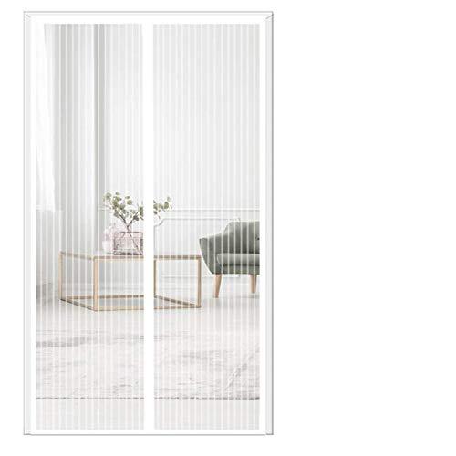 THAIKER Zanzariera Magnetica 120x250cm(47x98inch) Tenda Anti Zanzare Chiudi Automaticamente Ultra Silenzioso per Casa Ufficio, Bianco A