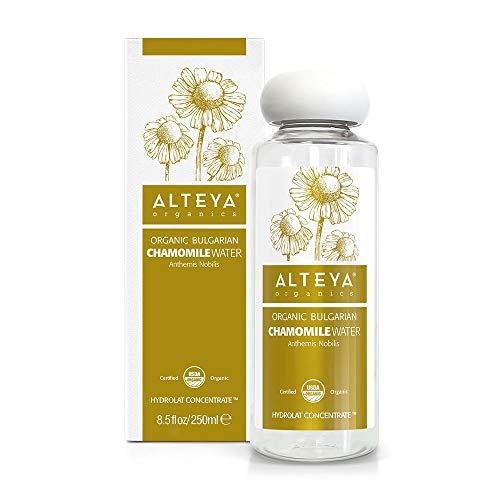 Alteya - Bouteille compte-gouttes bio - 250 ml - Eau florale biologique - Distillée à la vapeur - Fleurs d'anthémis Nobilis fraîches - 250 ml