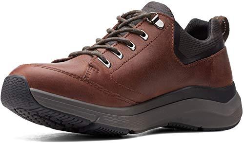 Clarks - Zapatos para hombre Wave2.0 Vibe, color Marrón, talla 43 EU