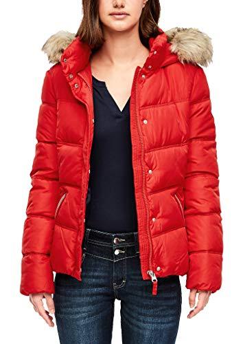 Q/S designed by - s.Oliver Damen Wattierte Jacke mit Fake Fur red L
