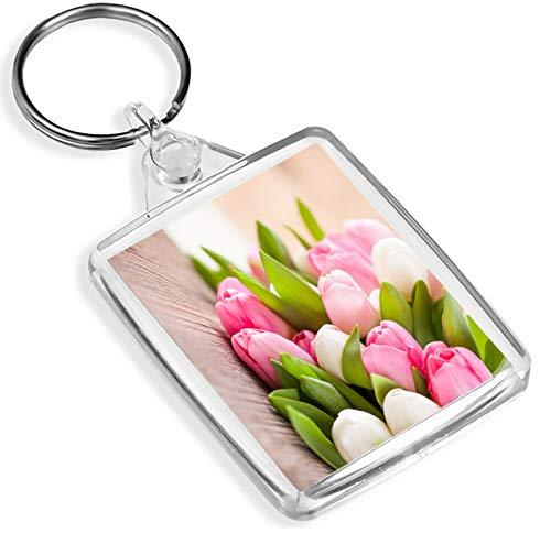 Porte-clés fleuriste avec tulipe - IP02 - Cadeau sympa #16347