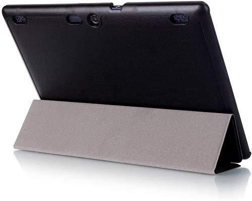 Kepuch Custer Hülle für Lenovo Tab 3 10 Business TB3-X70F TB3-X70N/Tab 3 10 Plus/Tab 10 TB-X103F/Tab 2 X30F X30M A10-30F A10-30L A10-70F A10-70L,PU-Leder Hüllen Schutzhülle Tasche Case - Schwarz