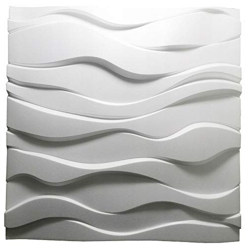 Nuevos Paneles Decorativos De Pared 3D - Tableros de Pared 3D - Revestimiento de Pared 3D - 600 x 600 mm - Zephyr - Blanco (8)