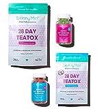 SkinnyMint Detox Bundle- Super Fat Burning Gummies (120 Gummies) and 28 Day Ultimate Teatox (42 Tea Bags). Ultimate Cleanse & Detox Formula. Reduce Bloat & Boost Energy.