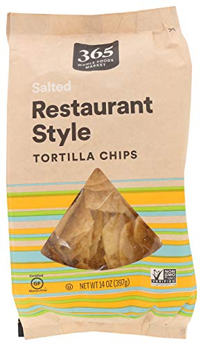365 by WFM, Tortilla Chips White Corn Salted Restaurant Style, 14 Ounce
