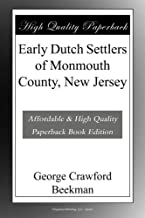 Early Dutch Settlers of Monmouth County, New Jersey
