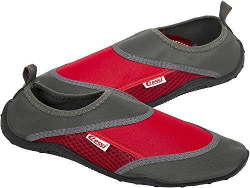 Cressi Coral Shoes Zapatilla para Deportes Acuáticos, Adultos Unisex, Antracita/Rojo, 37