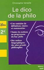 Le dico de la philo de Christophe Verselle