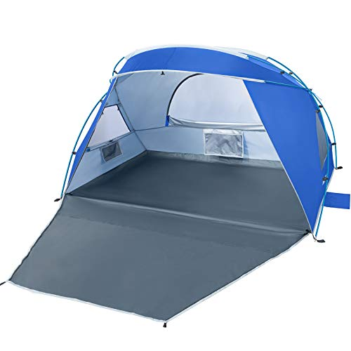 Forceatt 2 and 3 People Beach Camping Shade Tent,Sunscreen UPF50 +, Simple Installation, Light and Easy to Carry, Seaside Vacation Beach Camping is The First Choice.