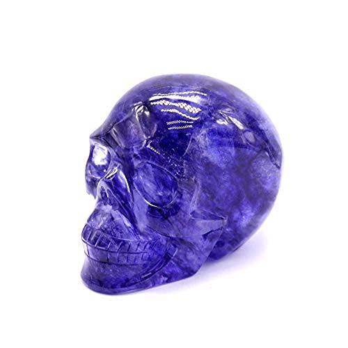 Hand Carved Blue Smelting Stone Quartz Crystal Skulls for Fengshui Decoration