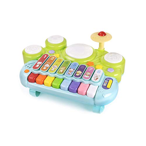 sakulala Bebé Instrumentos Musicales Juguetes, Grupo de percusión xilófono educativos del bebé Juguetes de múltiples Funciones del Piano Durante 12 a 18 Meses de Edad del bebé Niños