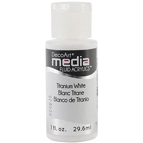 Deco Art DMFA-39 Media Fluid Acrylic Paint, 1-Ounce, Titanium White