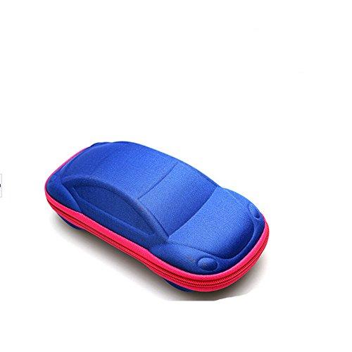 Qingsun Kinder Brillenetui Sonnenbrillen Brillenetui Zipper Bag Hartschalen Reißverschluss-Box Spiegelkasten Autoform