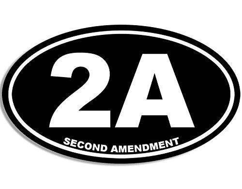 Oval 2A Second Amendment Sticker (Gun Rights NRA 2nd Shooter)