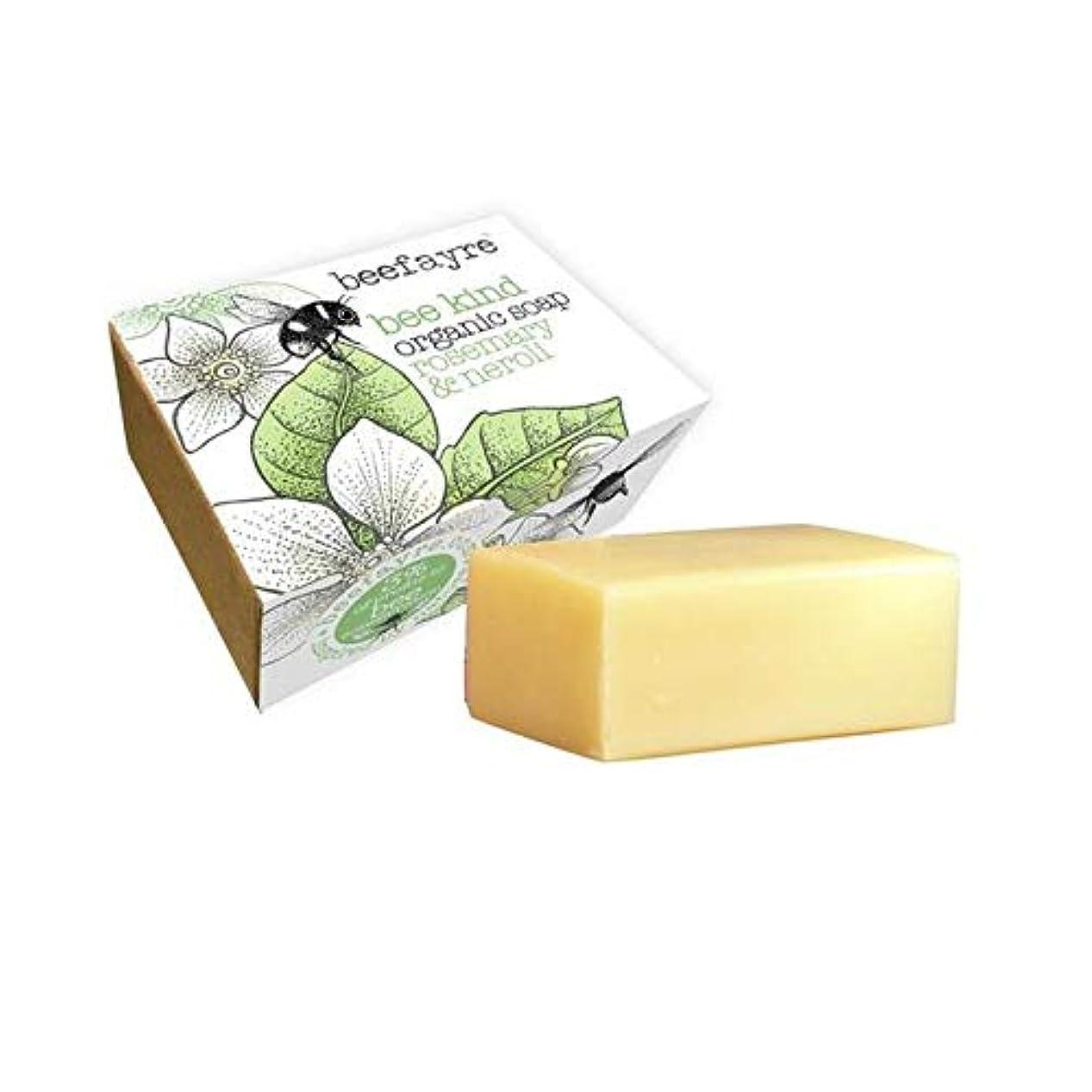 保持する四半期鷲[Beefayre] 有機ローズマリー&ネロリソープバー100グラムBeefayre - Beefayre Organic Rosemary & Neroli Soap Bar 100g [並行輸入品]