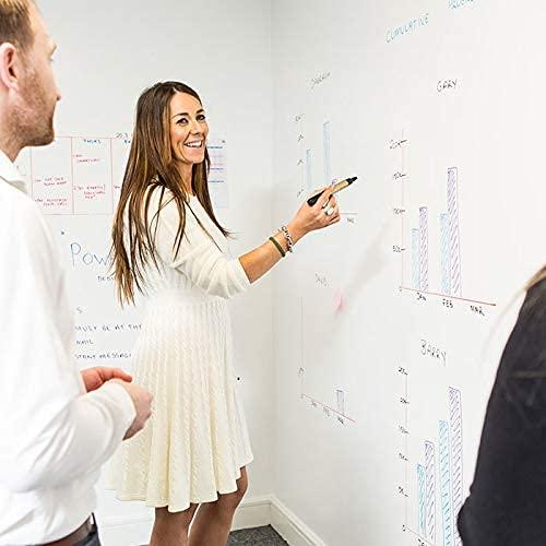 Smart Whiteboard Farbe 6m² Weiß - Whiteboard Wandfarbe - Beschreibbare Wand - Trocken Abwischbare Oberfläche für Zuhause und Büro *KOSTENLOSER EXPRESSVERSAND* - 2