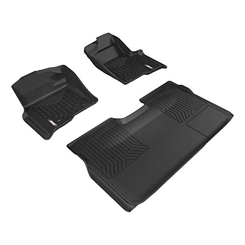 Aries Automotive 2802909 Custom Fit Floor Mat Complete Kit, Bl