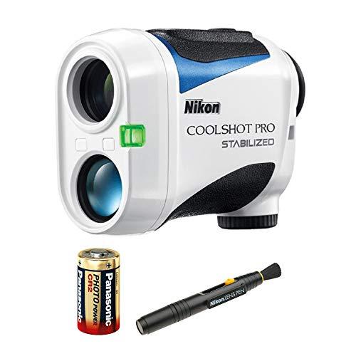 Nikon 6x21 CoolShot Pro Stabilized Laser Rangefinder Bundle Includes Lens Pen and Extra Battery
