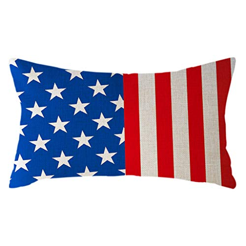 jieGorge Minimalist National Flag Pillow Case Linen 30x50cm Cushion Cover Home Decor, Home Decor Sales,for Halloween Day (C)