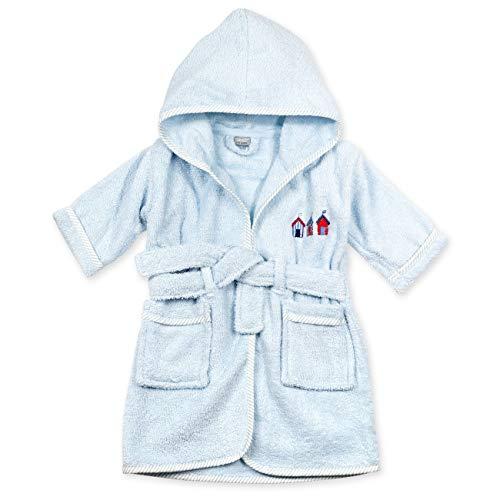 Rock A Bye Baby Frottee Bademantel Jungen | Farbe: hellblau | Bademantel mit Kapuze für Neugeborene & Kleinkinder | Größe: 12-18 Monate (86)