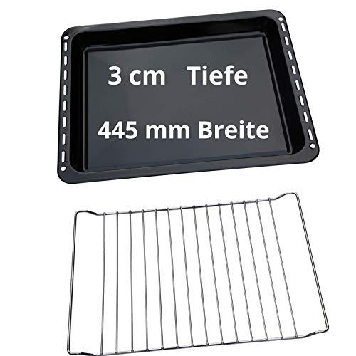 UD UNIQ DEALZ SPARSET 445x375x30 mm Backblech und Backrost passend für Whirlpool Gruppe Bauknecht Whirlpool Ignis IKEA Algor 481241838128
