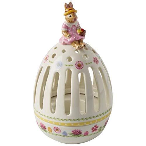 Villeroy & Boch Bunny Tales Teelichthalter Ei, Porzellan, Bunt 16cm Mehrfarbig